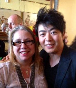Frances Wilson and Lang Lang